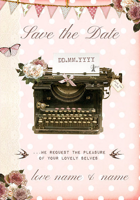 Peony Teacup - Save The Date