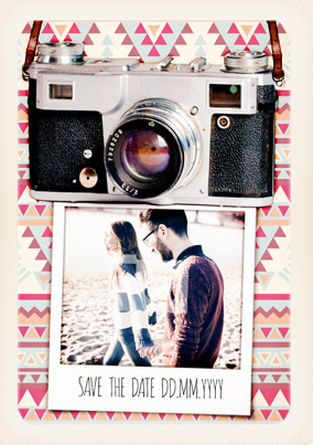 Polaroid Hipster - Save the Date