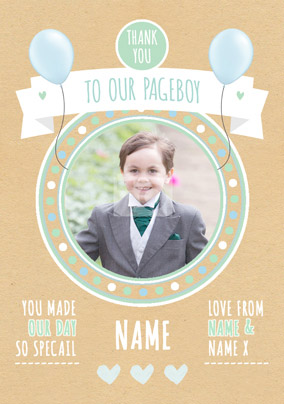 Rustic Romance - Pageboy Thank You