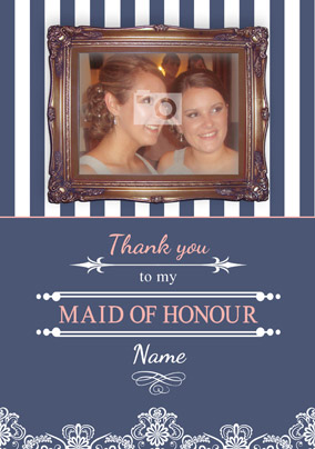 Sail Away with Me - Maid of Honour Thank You