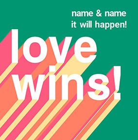 Love Wins postponed Wedding Card