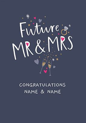 Future Mr and Mrs Personalised Wedding Card