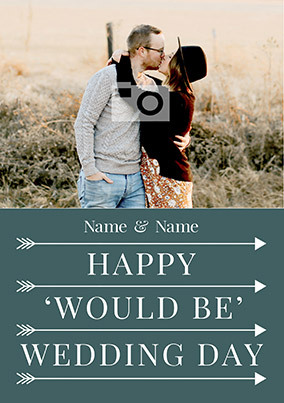 Happy Would be Wedding Day Photo Card