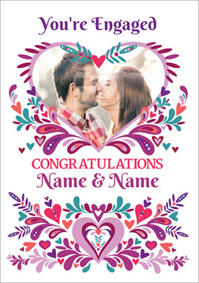 Folklore - Engagement Card Congratulations Photo Upload