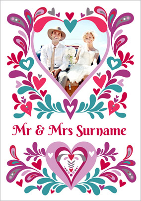 Folklore - Wedding Card Mr & Mrs Photo Upload
