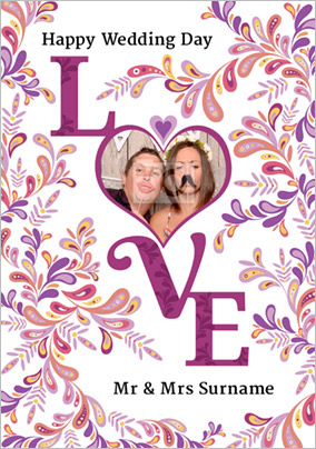 Folklore - Wedding Card Love Heart Photo Upload