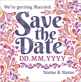 Folklore - Save the Date Card Getting Married