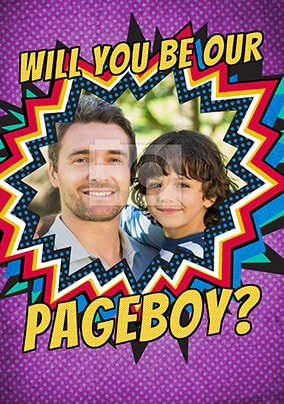 Will You Be Our Pageboy? Photo Card