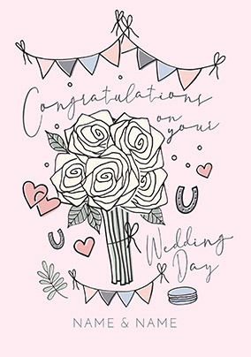 Congratulations on your Wedding Day personalised Card