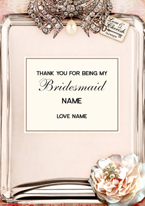 Love Labels - Wedding Bridesmaid
