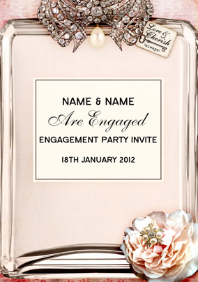 love labels engagement invite funky pigeon