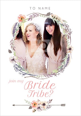 Join My Bride Tribe? Photo Wedding Card