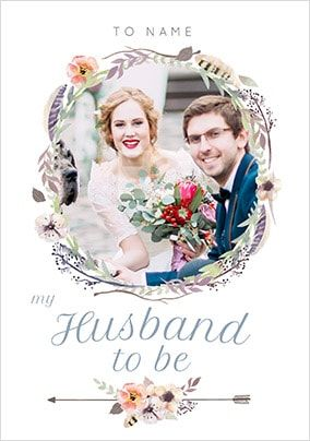 Husband To Be Photo Wedding Card