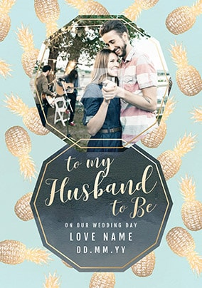 Pineles Husband To Be Personalised Wedding Card