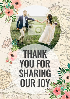 Thank You For Sharing Our Joy Photo Card