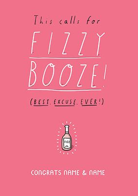 Fizzy Booze Personalised Card
