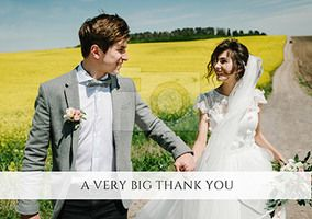 Banner - Landscape Photo Thank You Wedding Card